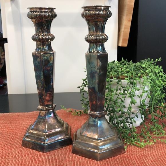 Pottery Barn candlesticks